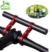 JoShock Bicycle Handlebar Extended 20cm Bracket Bike Headlight Holder Lantern Lamp Support Aluminum Alloy Fiber Stand
