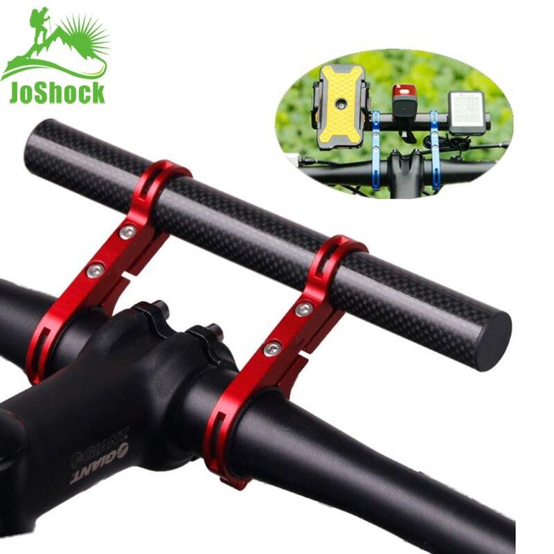 Joshock guiador da bicicleta estendido 20cm suporte da lâmpada lanterna suporte de fibra liga alumínio