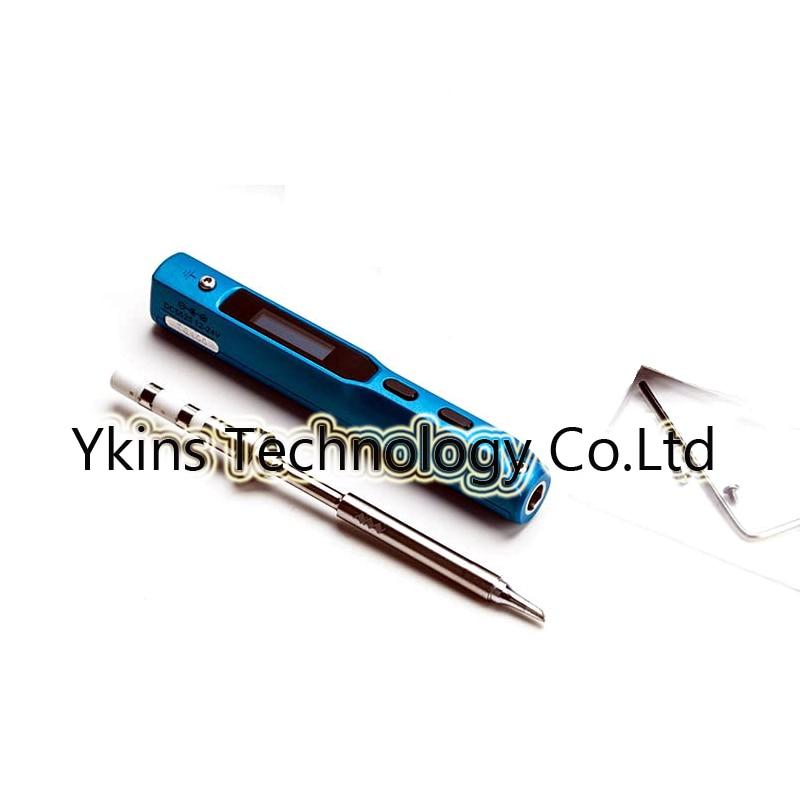 MINI TS100 blue programmable digital LCD adjustable temperature soldering iron belt B2 BC2 I tip metal