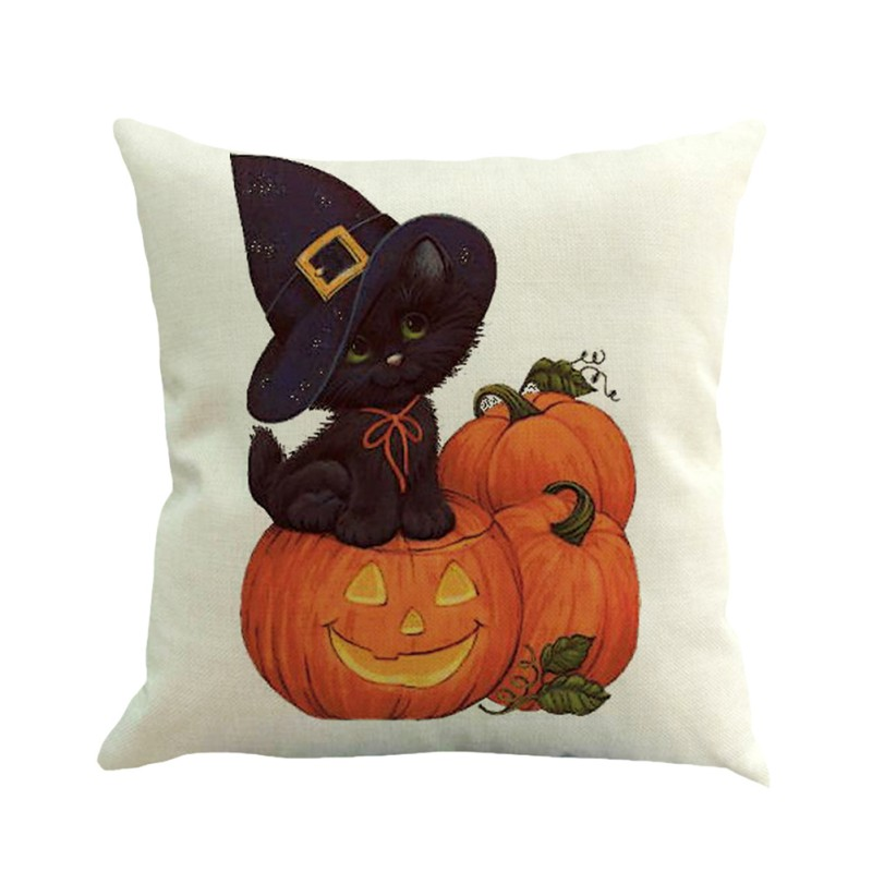 45x45cm Halloween Pumpkin Ghost Witch Ghoul Pillow Case Square Pillowcase Home Pillow Cover Case Home Office Decorative Product