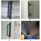 Industrial Black Steel Barn Door Pull Handle