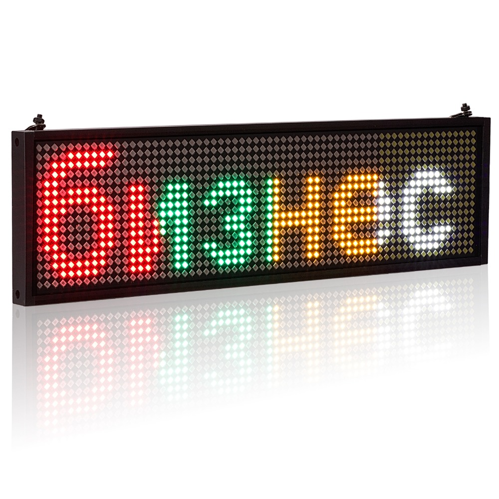 P5MM SMD Wifi Mobile Phone Programmable Scrolling Advertising Text LED Signs,Support Multiple Languages Such As Russian Display