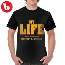 Written And Directed By Quentin Tarantino T Shirt My Life Tarantino T-Shirt Polyester Summer Graphic Tee Shirt Short-Sleeve Tshirt цена и фото