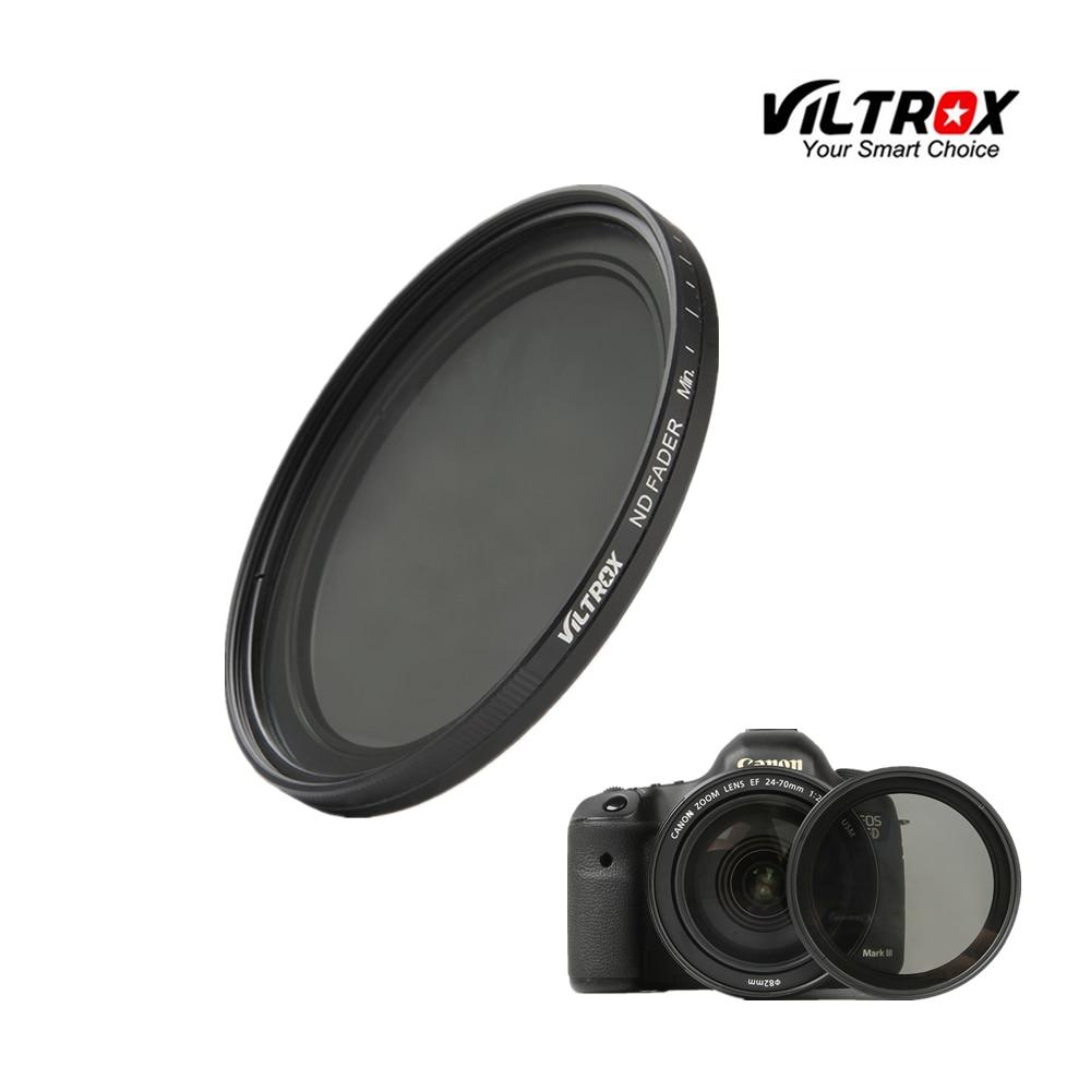 Viltrox Optical Glass Slim ND2 ND400 Neutral Density Fader Variable ND filter Adjustable 52/55/58/62/67/72/77mm for Canon Nikon