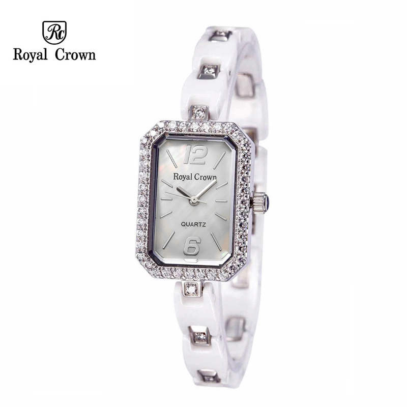 цены Ceramic Lady Women's Watch Japan Quartz Claw-setting Crystal Hour Fine Fashion Clock Bracelet Luxury Girl's Gift Royal Crown