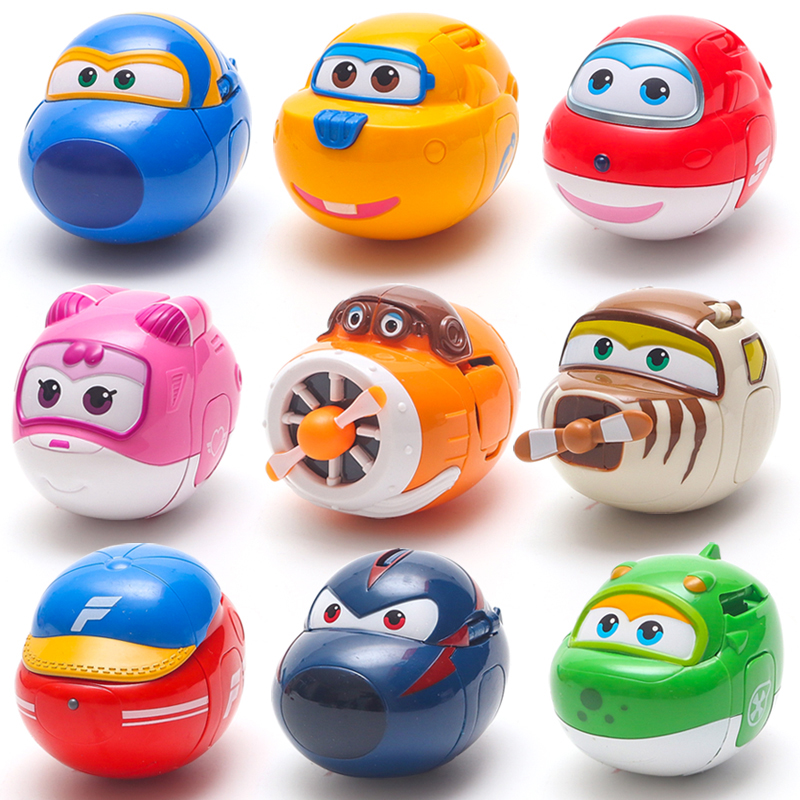 Egg Super Wings Mini Airplane ABS Robot Action Figures toy Super Wings Transformation robot Jet Animation for Children Kids Gift toy