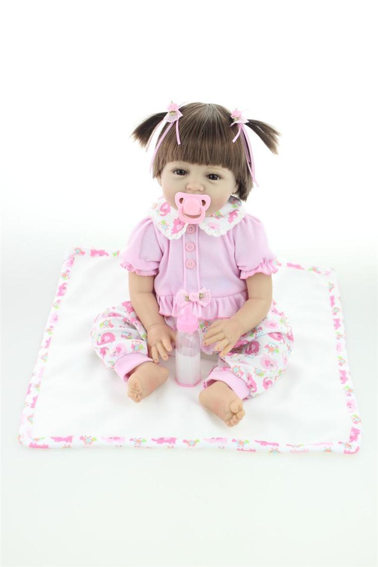 95d2782c3 22 polegada 55 CM realista vinil silicone bebê Reborn bonecas feitas ...