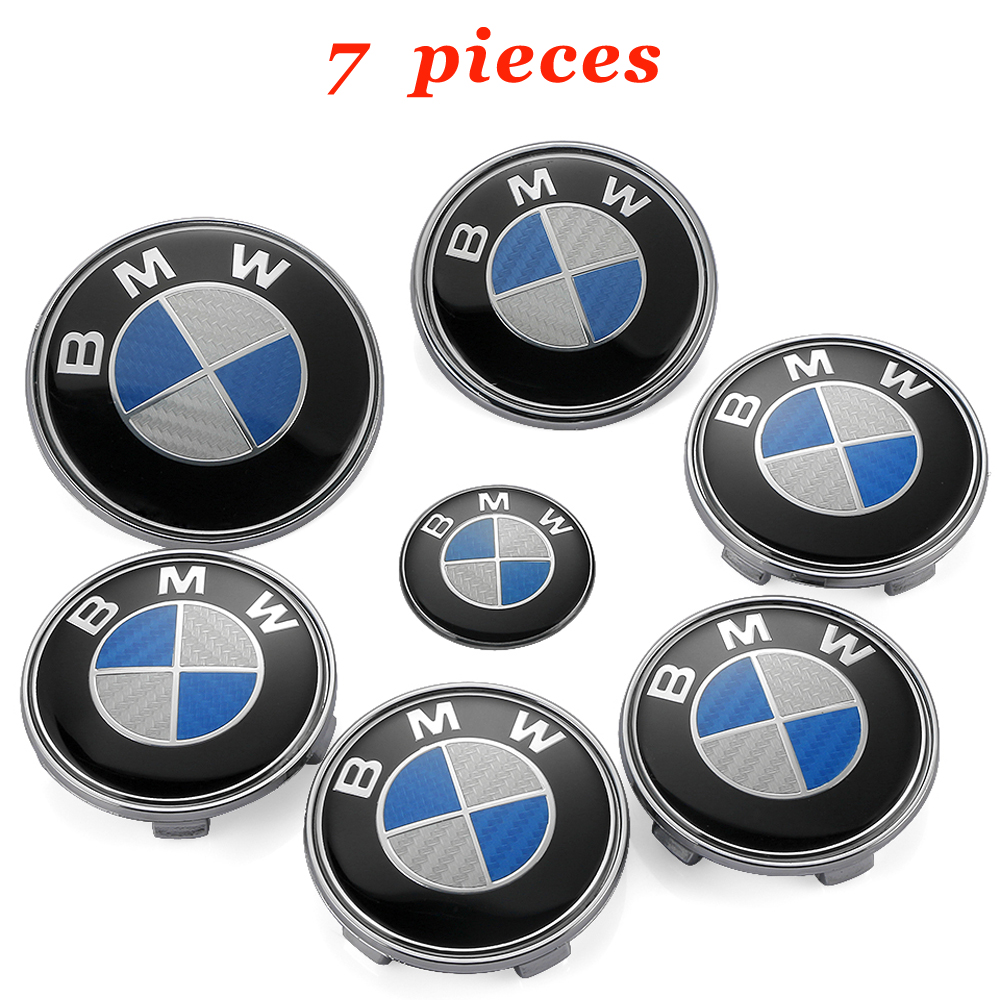 1 set 45/68/74/82 mm Auto Sticker for BMW X5 E53 E34 E32 Z4 F25 M3 M4 M5 X1 X6 E60 X4 X Drive 128i 435 Body Badge Decal Exterior