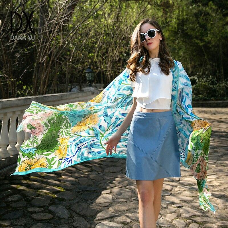 2019 Luxury Brand New Summer Women's Scarf Fashion Lady Silk Scarves Print Soft Shawls Pashmina Foulard Femme Long Size Bandana