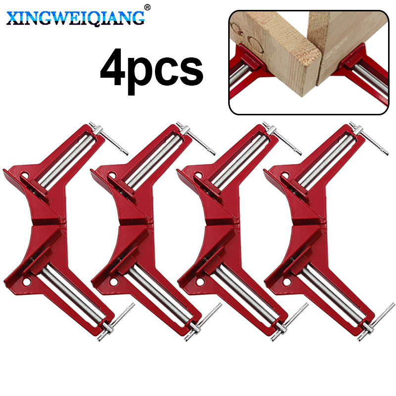 4pcs/Style 90 Degrees Angle Clamp Right Angle Woodworking Frame Clamp DIY Glass