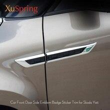 Для Skoda Yeti 2009 2012 2013 боковой двери крыло эмблема значок Стикеры отделкой автомобиль-Стайлинг