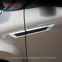 for Skoda Yeti 2009 2012 2013 2014 2015 2016 2019 Door Side Wing Fender Emblem Badge Sticker Trim Original Car styling