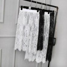 Lace Material  Women Underskirt Half Slips Slip Transparent 1001