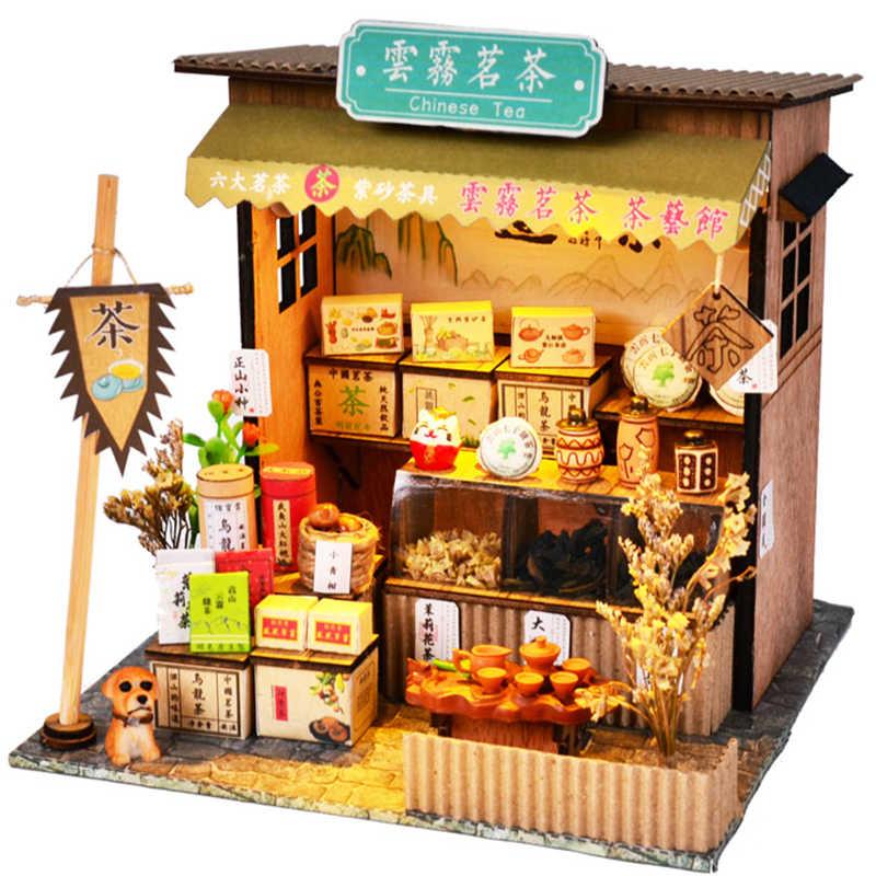 Cutebee Casa Nhà Búp Bê Đồ Nội Thất Thu Nhỏ Nhà Búp Bê Lắp Ghép DIY Thu Nhỏ Nhà Phòng Đồ Chơi dành cho Trẻ Em Trung Quốc Kiến Trúc Dân Gian