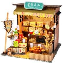Cutebee Casa Puppe Haus Möbel Miniatur Puppenhaus DIY Miniatur Haus Zimmer Spielzeug für Kinder Chinese Folk Architektur