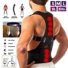 Male Female Adjustable Magnetic Posture Corrector Corset Back Brace Belt Lumbar Support Straight de espalda S-XXL