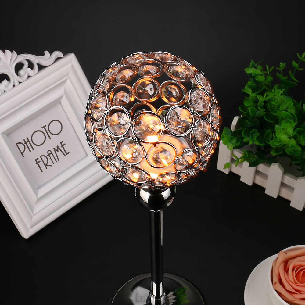 Oro di Cristallo Moderna Lanterna Candela Della Tazza di Titolari di Artigianato di Vetro Ornamenti Figurine Casa Della Festa Nuziale Della Decorazione Regali Souvenir