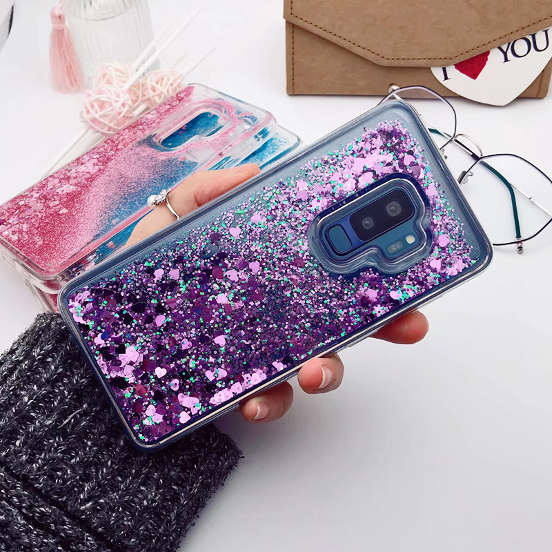 for Samsung Galaxy S9 case Back cover Bling Glitter Dynamic Quicksand Liquid Case for samsung S9 plus cover Galaxy S9 coque (19)
