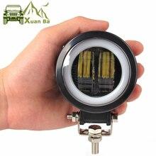 2Pcsรอบ3นิ้ว20WไฟLedทำงาน12V 24Vสำหรับรถ4X4 Offรถจักรยานยนต์จักรยานATV UTVรถบรรทุกAngel Eyesทำงานไฟ