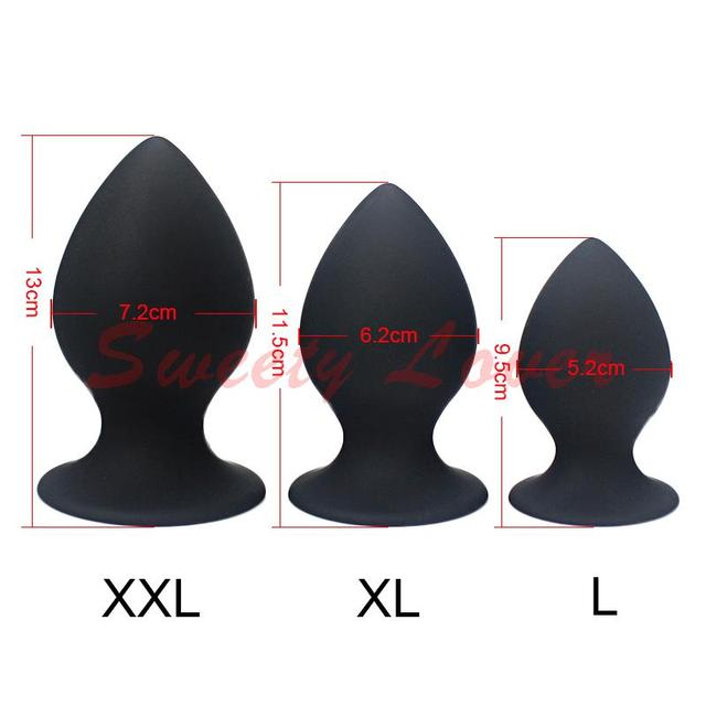 Silicone Anal Plug Sex Toys for Men Woman