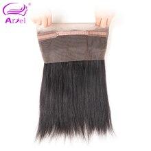 Ariel Remy Hair Straight Malaysian 360 Frontal Closure With Baby Hair 100% Human Hair Closure Free Shipping Natural Color
