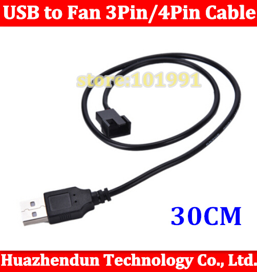 где купить 1pcs  USB A male to Fan 3-Pin 3pin /4-Pin 4pin Adapter Cable for 5V Free shipping 30CM по лучшей цене