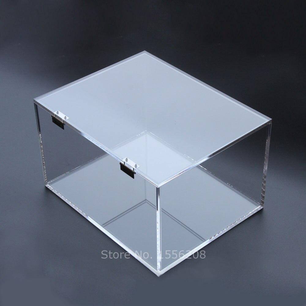 Boîte acrylique personnalisée avec couvercle Rectangle boîte à bijoux de mariage cadeau Unique porte-boîte de rangement fournitures