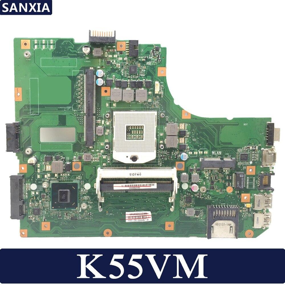 KEFU K55VM Laptop motherboard for ASUS K55VM K55VJ A55V K55V K55Test original mainboard