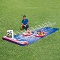 2017 высокое качество открытый детский бассейн игрушка гоночная игра двойной слайд большой 448 см jet слайд бесплатная доставка