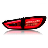 Ownsun 2 pieces Rear L/R DRL Rear Trunk Signal+Brake+Reverse LED Taillights For Mazda Atenza