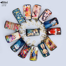 2019 New Cartoon Vintage Fashion Mini Key Wallets Purse Bags Women Zipper PU Leather Small Wallets Purses Car Key Bag free ship(China)