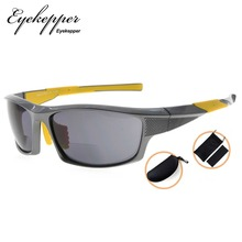 SG904 Eyekepper TR90 Sports Bifocal Sunglasses Baseball Running Fishing Driving Golf Softball Hiking Readers