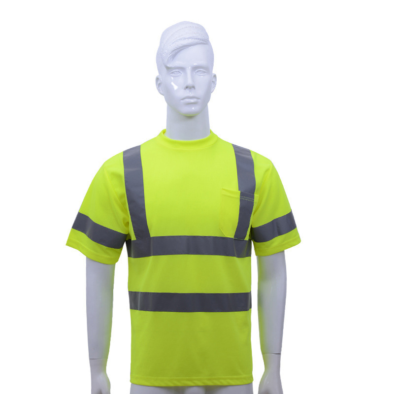 Road Workplace T-shirt High Visibility Reflective O Neck Tee Men Working Clothes Outdoor Night Protective Safety Clothing S-XLRoad Workplace T-shirt High Visibility Reflective O Neck Tee Men Working Clothes Outdoor Night Protective Safety Clothing S-XL