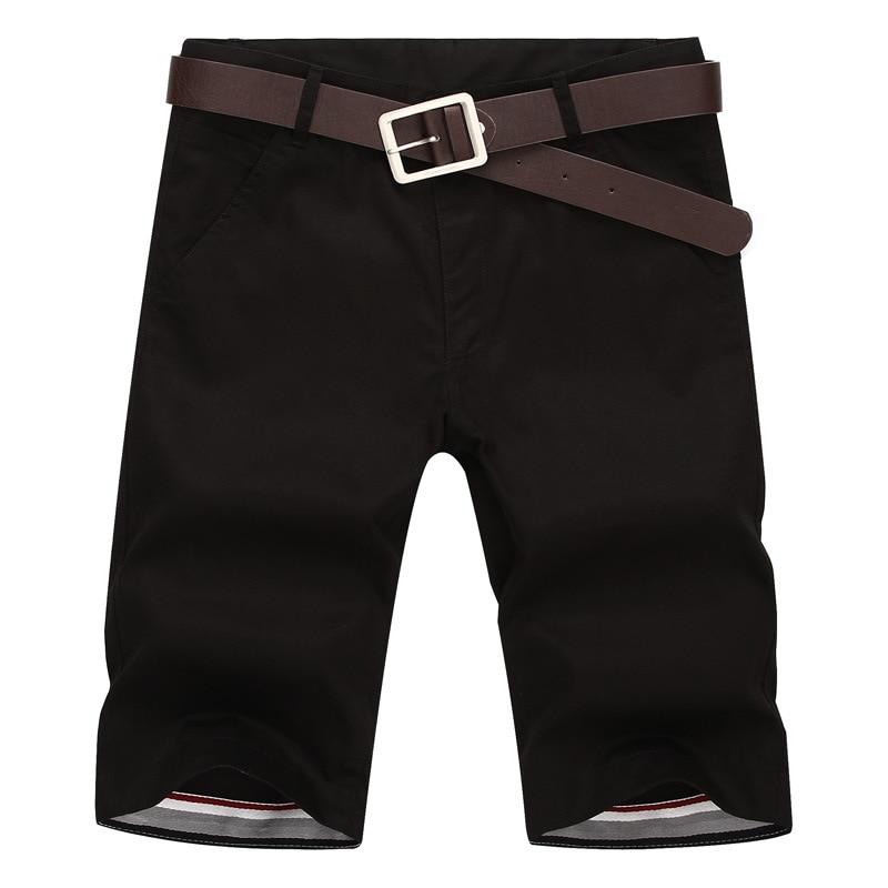 BOLUBAO 2018 Marca Hombre Pantalones Cortos Casual Nuevo Verano Algodón Hombre Bermudas Moda Hombre Shorts Masculina (Sin cinturón)