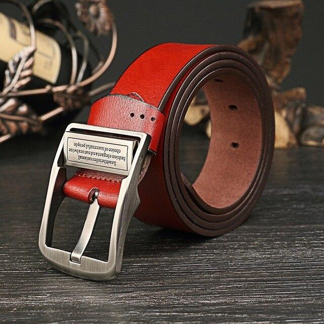 2017 Nueva Moda cinturones de cuero Genuino hombres de Lujo cintura masculina los hombres de ancho correas de los pantalones vaqueros de Alta calidad diseñador faja para hombre