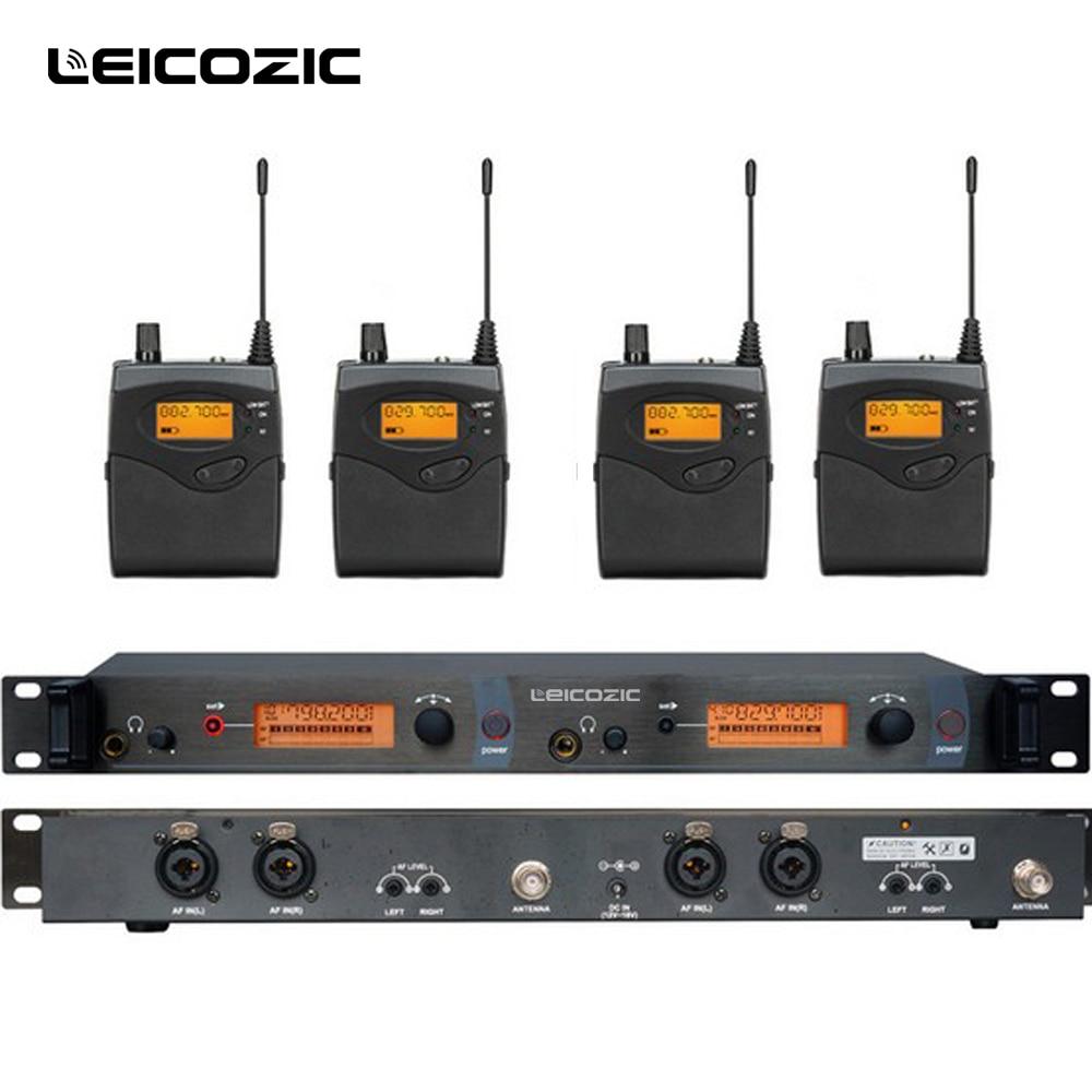 Leikozic bk2050 sem fio no sistema do monitor da orelha sistemas de monitoramento da orelha sistema monitor de estágio sem fio sr2050 iem bodypack monitor