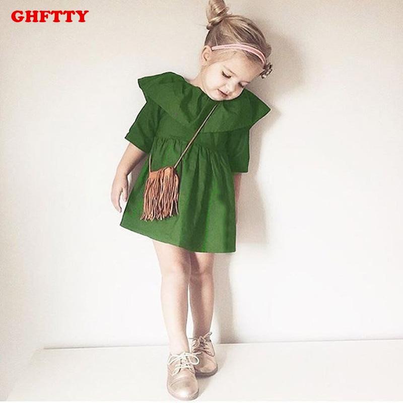 Детские платья зелёного цвета