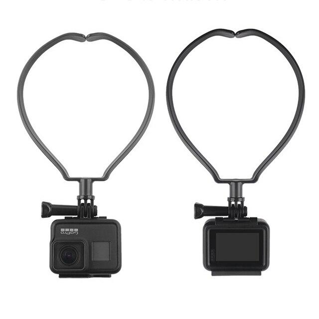 스포츠 카메라 넥 홀더 DJI Osmo 액션 GOPRO 9 8 Sjcam Xiaoyi 캠코더 전화 웨어러블 교수형 키트 교수형 브래킷