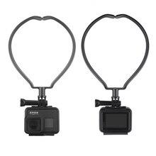 Spor kamera boyun tutucu dağı DJI Osmo eylem GOPRO 9 8 Sjcam Xiaoyi kamera telefon giyilebilir asmak kiti askılı destek