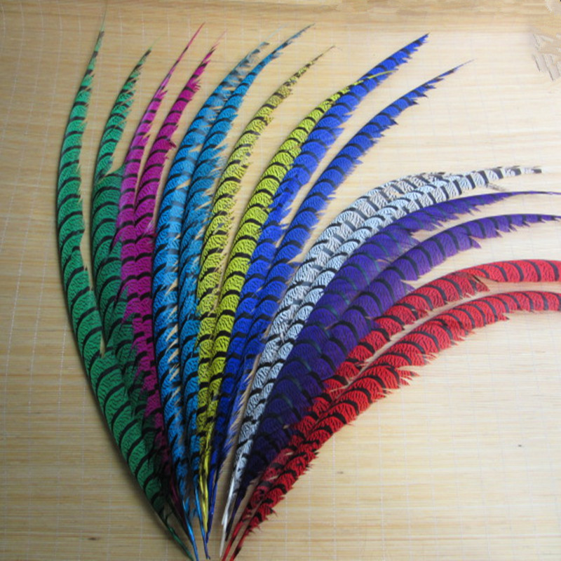 Wholesale 10 Pcs Lot Natural Lady Amherst Pheasant Feathers 80 90CM 32 36inch jewelry Wedding Decorations