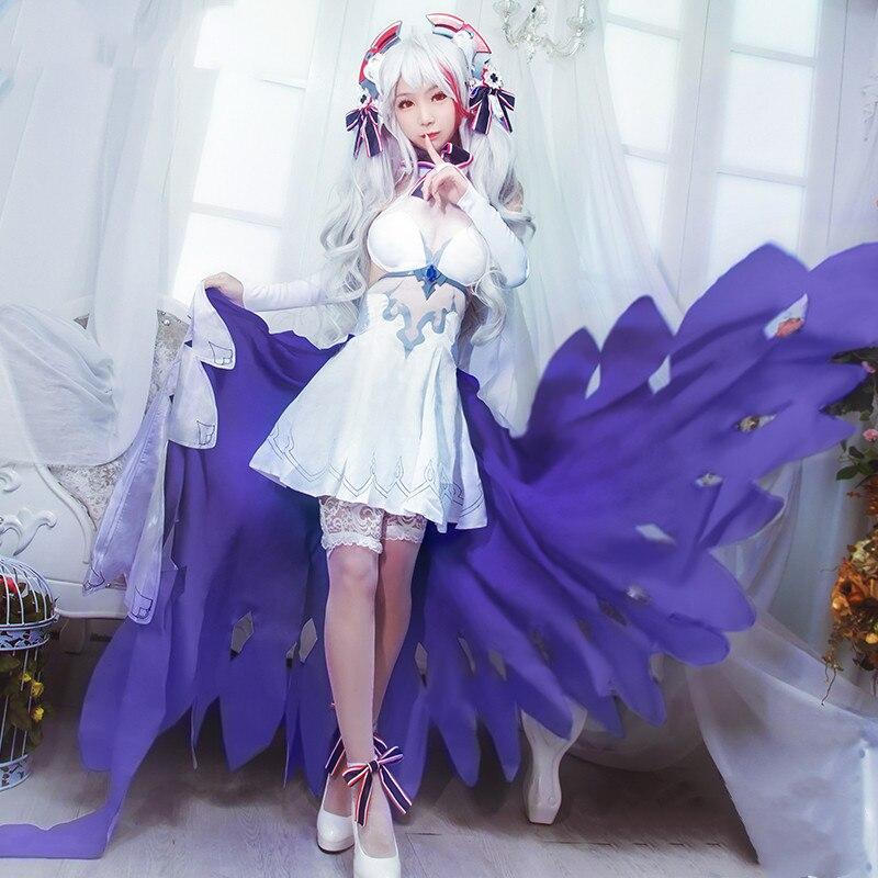 Anime! Robe de mariée Eugen Azur Lane Prinz une symphonie du destin uniforme Lolita Costume de Cosplay carnaval Costumes d'halloween