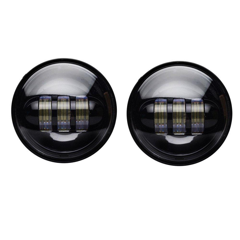 On sale! 4.5 Motorcycle 4-1/2 Led Fog Lamp PASSING LAMPS Work Driving Daymaker For Harley Davidson