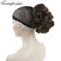 Forte Beauté Synthétique Cheveux Courts Faux Chignon Morceau De Cheveux Bouclés Clip-in Extensions Postiche Pour Les Femmes 43 couleurs