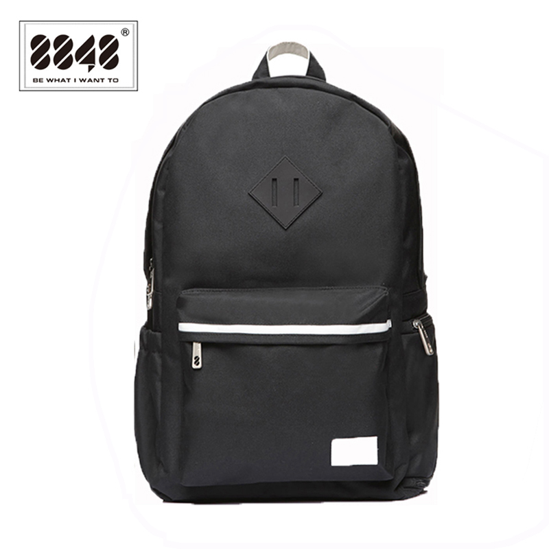 8848 Brand Black Backpacks Unisex 500 D Waterproof Oxford Soft Back Type Backpack For Travel  School Student Women Men S15004-8