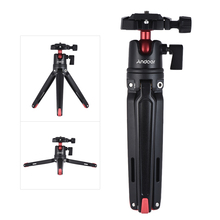 Andoer Mini Handheld Travel Tabletop Tripod Stand with Ball Head for iPhone for Samsung Huawei Honor 9  Smartphone for GoPro 5