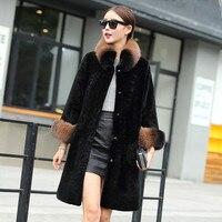 Горячая мода зима Для женщин Искусственный мех пальто оптовая продажа, Фонари рукавом полным ходом толстые теплые искусственной овечьей ше
