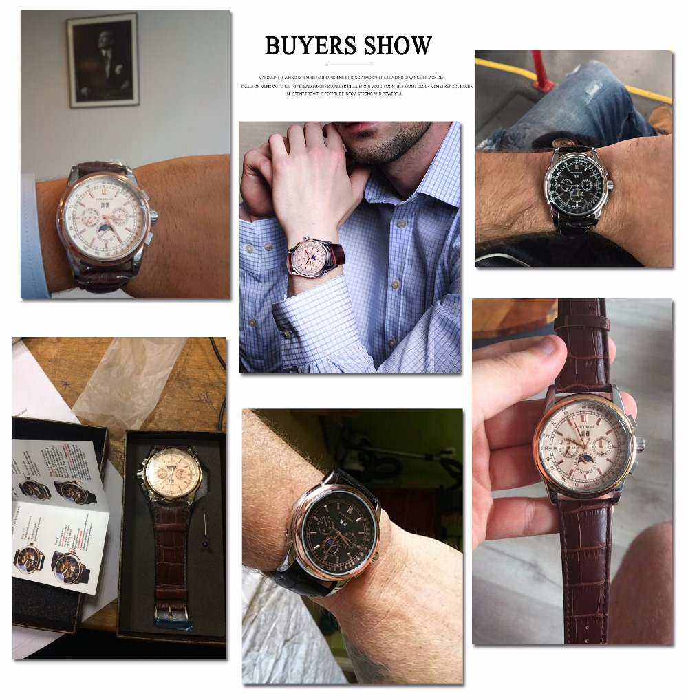 HTB1h7Mgl43IL1JjSZPfq6ArUVXaH Forsining Moon Phase Shanghai Movement Rose Gold Case Brown Genuine Leather Strap Mens Watches Top Brand Luxury Auotmatic Watch
