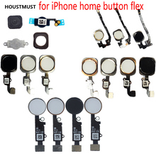 HOUSTMUST 1 stücke Home Button mit Flex Kabel für iPhone 5 5C 5 s 6 6 Plus 6 s plus 7 7 Plus Home button Flex Montage kostenloser versand(China)
