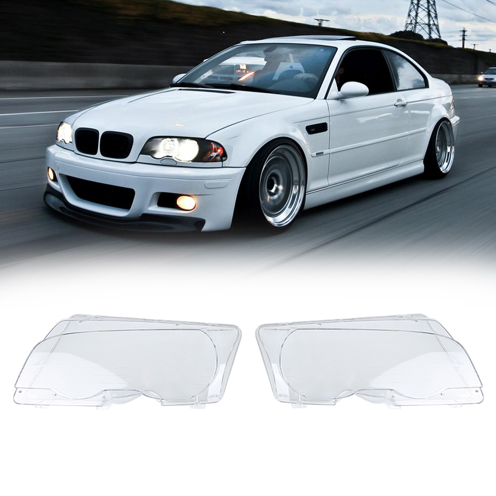 Hot 100% Brand new headlight lens 1Pair Front Right Left Head Light Lamp Cover Lens for BMW E46 Coupe 2-Door 99-02 наушники apple beats solo2 on ear headphones серебристый mh982zm a