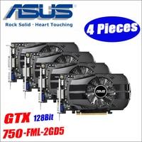 Asus GTX 750 FML 2GD5 4pcs GTX750 GTX 750 2G D5 DDR5 128 Bit PC Desktop Graphics Cards PCI Express 3.0 computer Graphics Cards